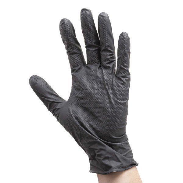使い捨て手袋 エンジニアグローブ LL 50枚入 ニトリルゴム 自動車整備 工場作業 ブラック workway 03