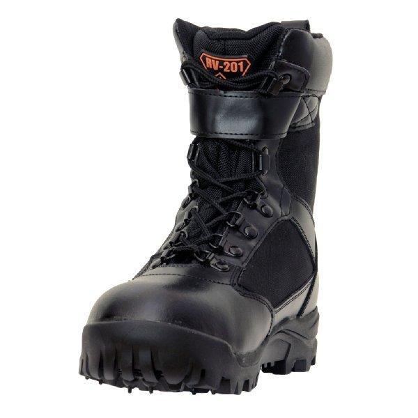 作業靴 安全靴 山林スパイクブーツ 耐久 耐水 幅広 ブラック 荘快堂 RV-201|workway|02