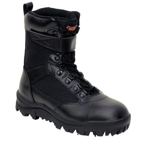 作業靴 安全靴 山林スパイクブーツ 耐久 耐水 幅広 ブラック 荘快堂 RV-201|workway|03