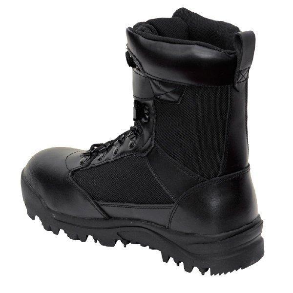 作業靴 安全靴 山林スパイクブーツ 耐久 耐水 幅広 ブラック 荘快堂 RV-201|workway|04