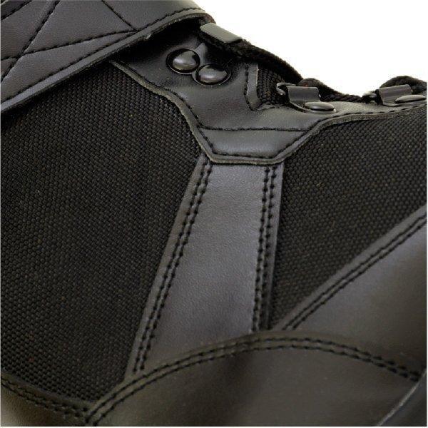 作業靴 安全靴 山林スパイクブーツ 耐久 耐水 幅広 ブラック 荘快堂 RV-201|workway|05