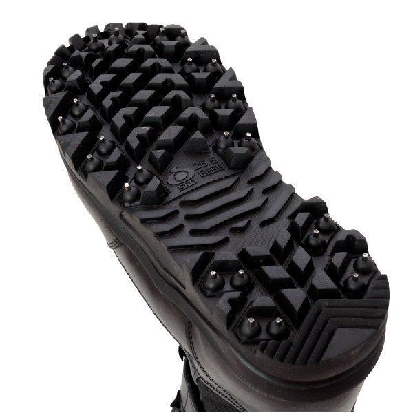 作業靴 安全靴 山林スパイクブーツ 耐久 耐水 幅広 ブラック 荘快堂 RV-201|workway|06