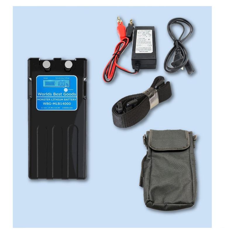 スーパーリチウム互換 玄人仕様 特典利用で実質バッテリーが無料 モンスターリチウムバッテリー レビューを書いて長期1年保証 電動リール wbg-mlb-10400|world-best-goods|04