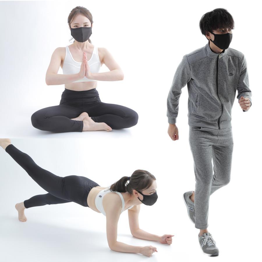 スポーツマスク メンズ マスク ブラック 洗える おしゃれ 男女兼用 息苦しくない 速乾|world-class|14