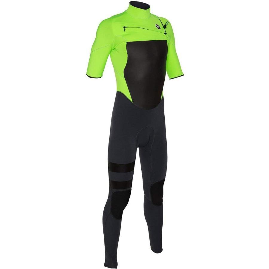 即納!最大半額! ウォータースポーツ ハーレー メンズ Flash Lime Hurley Men's Fusion 202 2mm Short Sleeve Full Wetsuit (Size XS S ST), サラリーマン応援隊スーツ&コート 28e20e34