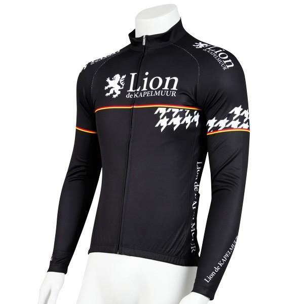 リオン・ド・カペルミュール 長袖ジャージ 千鳥チップ ブラック worldcycle-wh 02