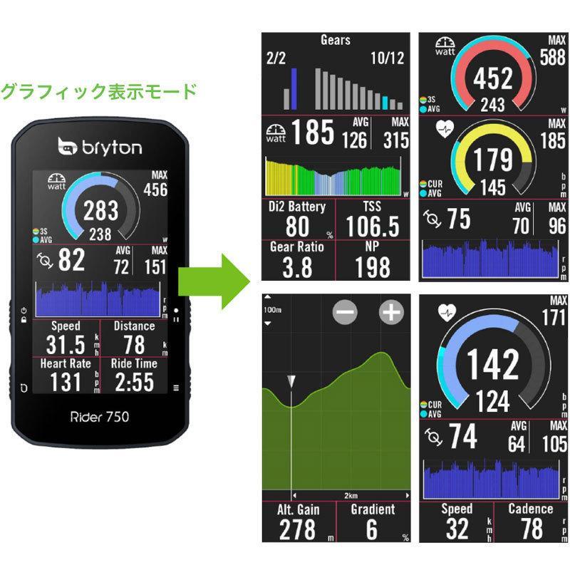 【特急】ブライトン Rider750T トリプルキット(ケイデンス、スピード、心拍センサー付) GPS|worldcycle|08