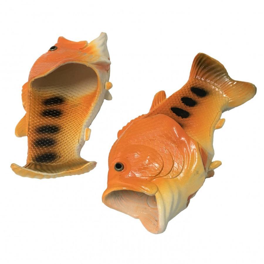 オルルド釣具 魚型 サンダル スリッパ 「サンダルド」 おさかな Lサイズ ルームシューズ 収納袋付き worlddepartyafuu 03