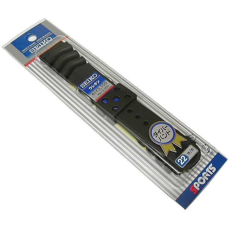 セイコー SEIKO 22mm 純正 ダイバー ウレタンバンド DAL0BP 正規品 交換用 黒 モンスターシリーズ worldfact 03