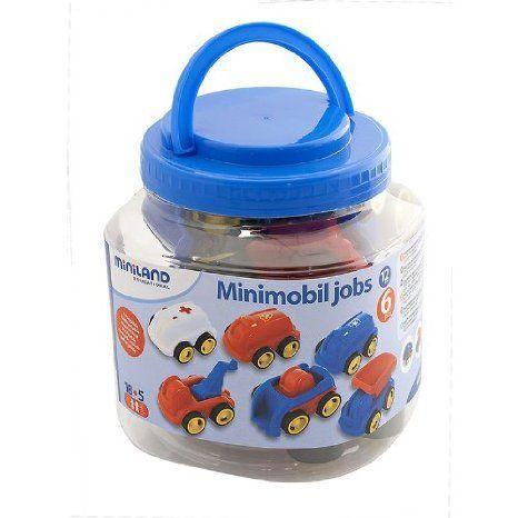 * JOB VEHICLES 6 PER JAR ミニカー ミニチュア 模型 プレイセット自動車 ダイキャスト