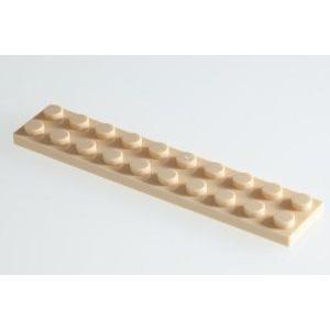 100x LEGO (レゴ) R Brick-黄 (Tan) 2x10 Plates ブロック おもちゃ