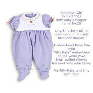 American Girl (アメリカンガール) Bitty Baby 紫の Sleeper ドール 人形 フィギュア