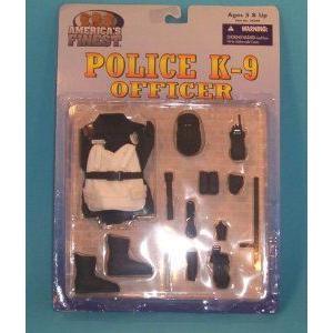 America's Finest POLICE OFFICER K-9 K9 Uniform フィギュア おもちゃ 人形