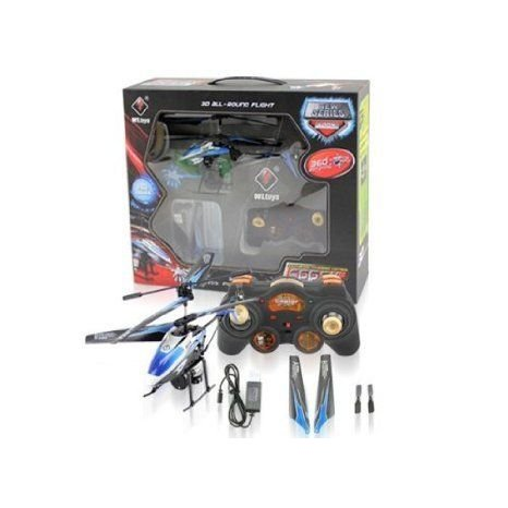 amtonseeshop New Wltoys V319 3.5ch I/r Rc Remote Control Spray Gyro Helicopter Toy Gifts 青r Toy