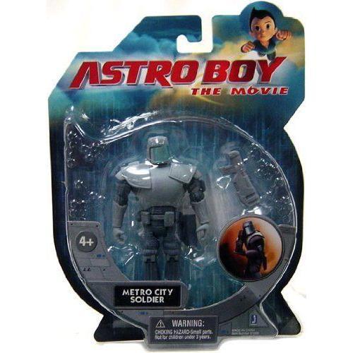 Astro Boy The Movie: 3 3/4 Inch Action Figure - Metro City Soldier Robot フィギュア ダイキャスト