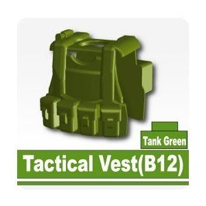B12 Tactical Vest (Tank 緑) - Custom Minifigure Piece ブロック おもちゃ
