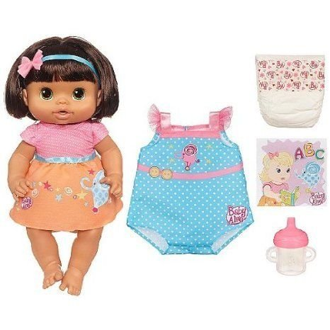 Baby Alive (ベビーアライブ) Dressed for School Doll, 2 Outfits, She Drinks & Wets ドール 人形 フィ