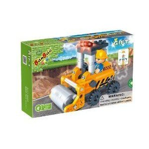 BanBao Cement Roller Building Set, 65-Piece ブロック おもちゃ