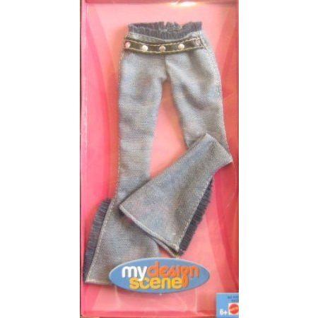 Barbie(バービー) - My Design Scene Fashion - Bell Bottom Jeans w Fringe (2004) ドール 人形 フィギ