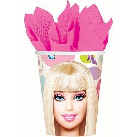 Barbie(バービー) All Doll'd Up 9 Oz Cups Package of 8 ドール 人形 フィギュア