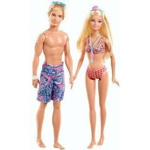 Barbie(バービー) and Ken Beach Doll Giftset, 2-Pack ドール 人形 フィギュア