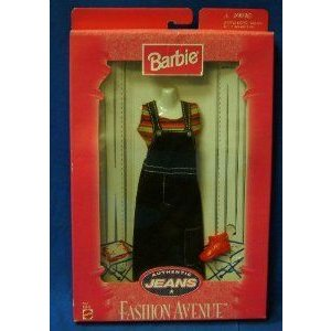 Barbie(バービー) Authentic Jeans Fashion Avenue - Denuim Jumper Outfit with Accessories (1998) ド
