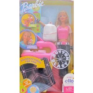 Barbie(バービー) BUTTON BLAST DOLL with ELLO CREATION System, BUTTON MAKER & More! (2002) ドール