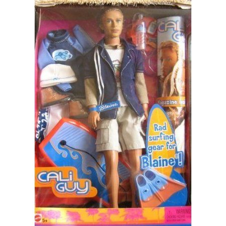Barbie(バービー) Cali Guy Blaine Doll with Surfing Accesories ドール 人形 フィギュア