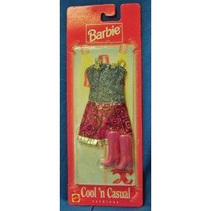 Barbie(バービー) Cool'n Casual Fashions Cowboy 紫の Skirt Outfit and Accessories (1997) ドール