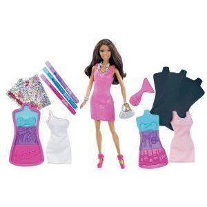 Barbie(バービー) Fashion Design Plates African-American Doll ドール 人形 フィギュア