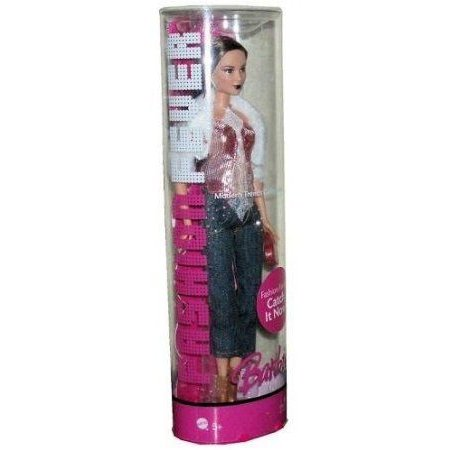 Barbie(バービー) Fashion Fever Tube Modern Trend Collection 12 inch Fashion Doll - Teresa with Fur