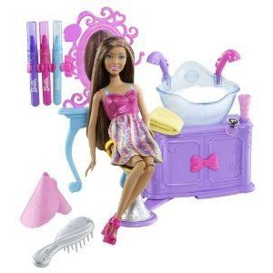 Barbie(バービー) Hairtastic Color And Wash Salon African-American Doll Playset ドール 人形 フィギ