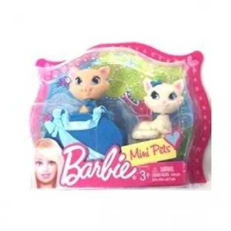 Barbie(バービー) Mini Pets, Set of 2 Cats or Poodles with Accessories ドール 人形 フィギュア