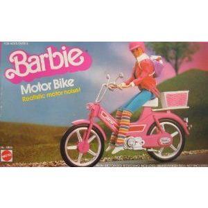 Barbie(バービー) MOTOR BIKE w Realistic MOTOR NOISE Sounds! (1983 Mattel (マテル社) Hawthorne) ド