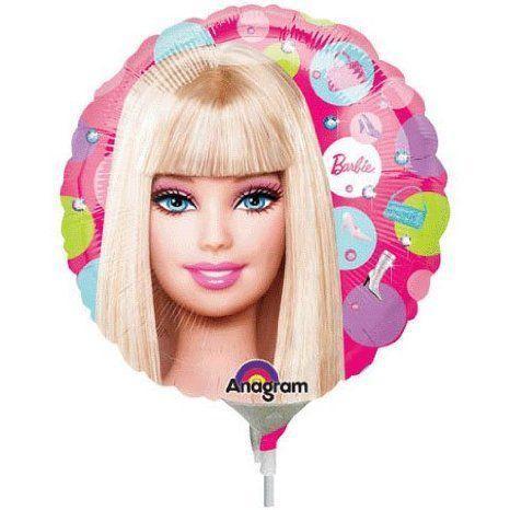 Barbie(バービー) Pattern Mini Foil Balloon (1 per package) ドール 人形 フィギュア