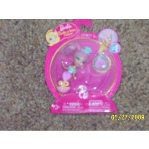 Barbie(バービー) Peek a Boo Petites Doll Ring #519 ピンク / Teal Mermaid Manufactu赤 in 2008 ドール