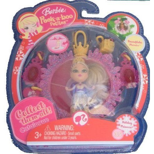 Barbie(バービー) Peek a Boo Petites Snowflake Flurries Holiday Princess #35 ドール 人形 フィギュア