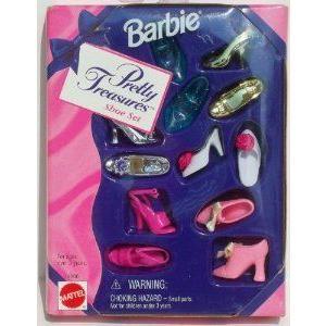 Barbie(バービー) Pretty Treasures Shoe Set (1996) ドール 人形 フィギュア