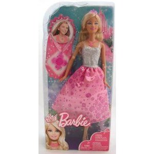 Barbie(バービー) Princess Barbie(バービー) Doll and Gift for Girl Necklace ドール 人形 フィギュア
