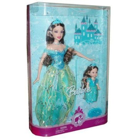 Barbie(バービー) Princess Sisters - Teresa and Kelly with Glittering 青 Gown (M8464) ドール 人形