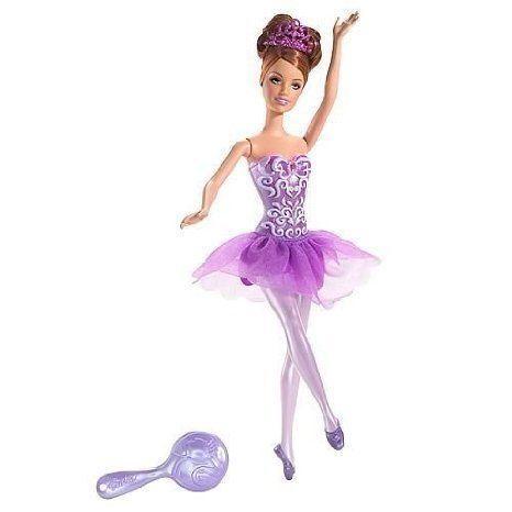 Barbie(バービー) 紫の Ballerina Doll ドール 人形 フィギュア