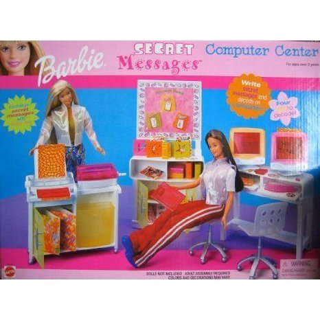 Barbie(バービー) Secret Messages Computer Center Playset (2000) ドール 人形 フィギュア