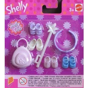 Barbie(バービー) SHELLY (KELLY) Accessories Pack w Wand, Crown, Shoes & Case (2002) ドール 人形 フ