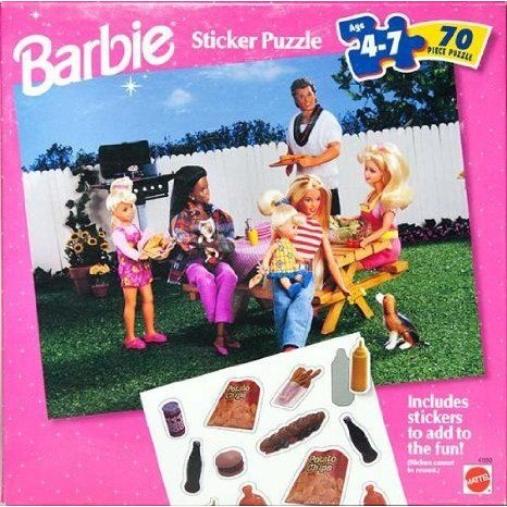 Barbie(バービー) Sticker Puzzle 70-piece Puzzle with Reusable Stickers ドール 人形 フィギュア