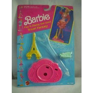 Barbie(バービー) Travel Fantasy Play 'N Display Doll Stand (1991) ドール 人形 フィギュア