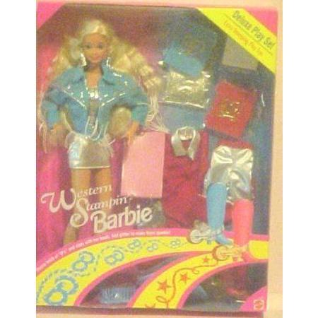 Barbie(バービー) Western Stampin Barbie(バービー) Blonde Deluxe Play Set ドール 人形 フィギュア