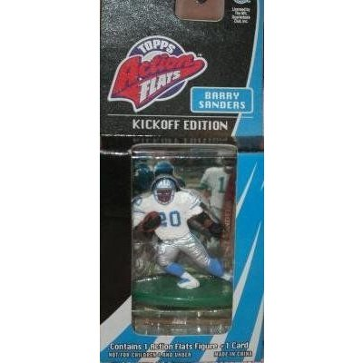 Barry Sanders Detroit Lions 1998 Topps NFL Action Flats Figure and Card Kickoff Edition フィギュア