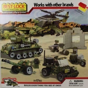 Best-Lock 450+ piece Military Base Construction Kit 緑 ブロック おもちゃ