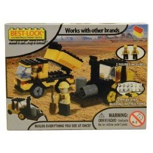 Best-Lock Construction Toys Dump Truck and Tractor ブロック おもちゃ