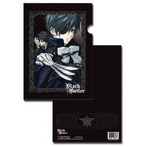 黒 BUTLER SEBASTIAN AND CIEL PLASTIC FILE FOLDER (5 PCS PACK) フィギュア おもちゃ 人形